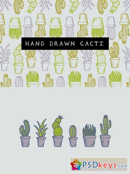 Hand drawn cacti 414721