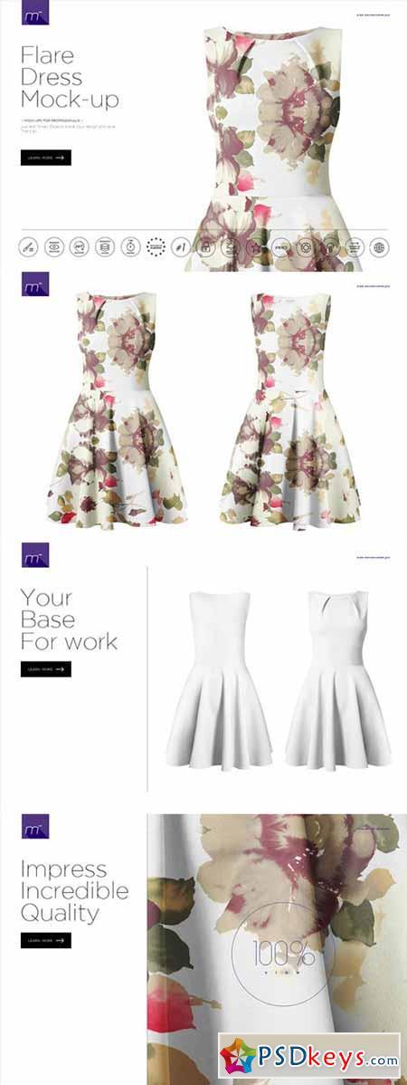 Flare Dress Mock-up 467793