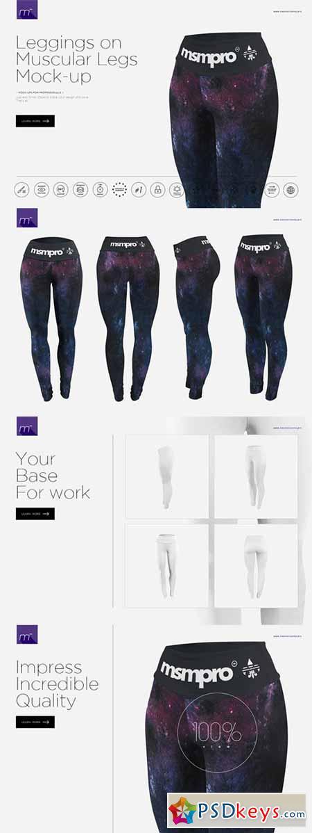 Leggings on Muscular Legs Mock-up 527870