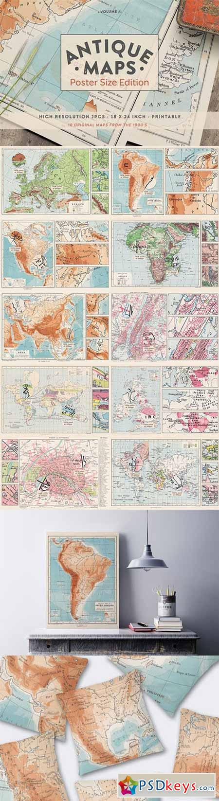 Antique Maps - Poster Size Edition 514292