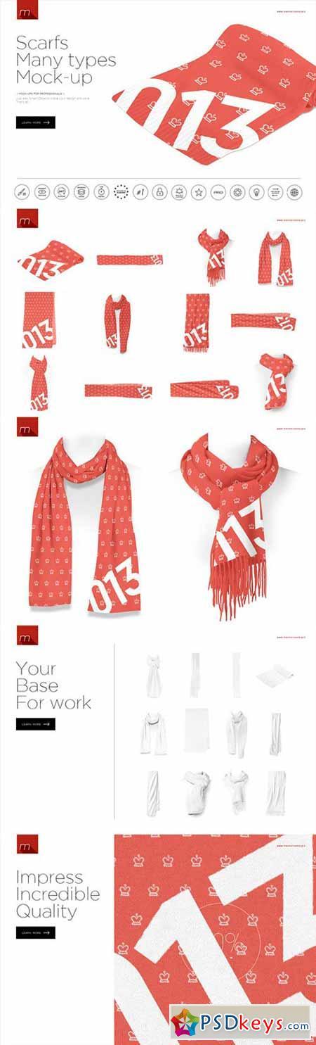 scarves many types mock up 450569 187 free