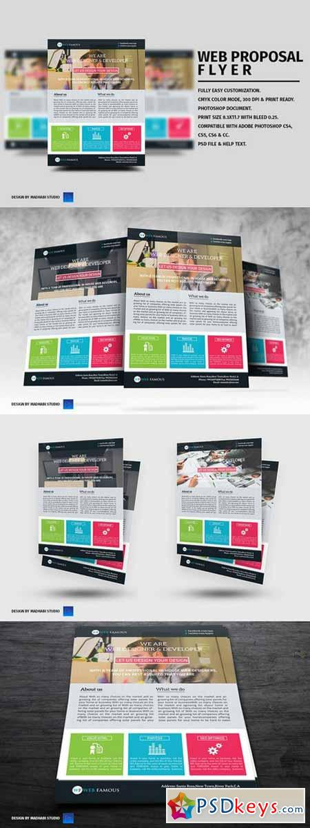 Web Proposal Flyer Template 354378