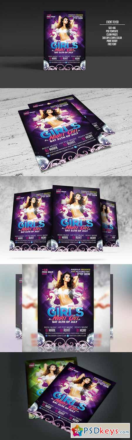 Girls Night Out Flyer Template 292669