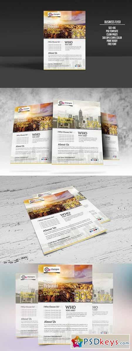 Modern And Clean Business Flyer 213679