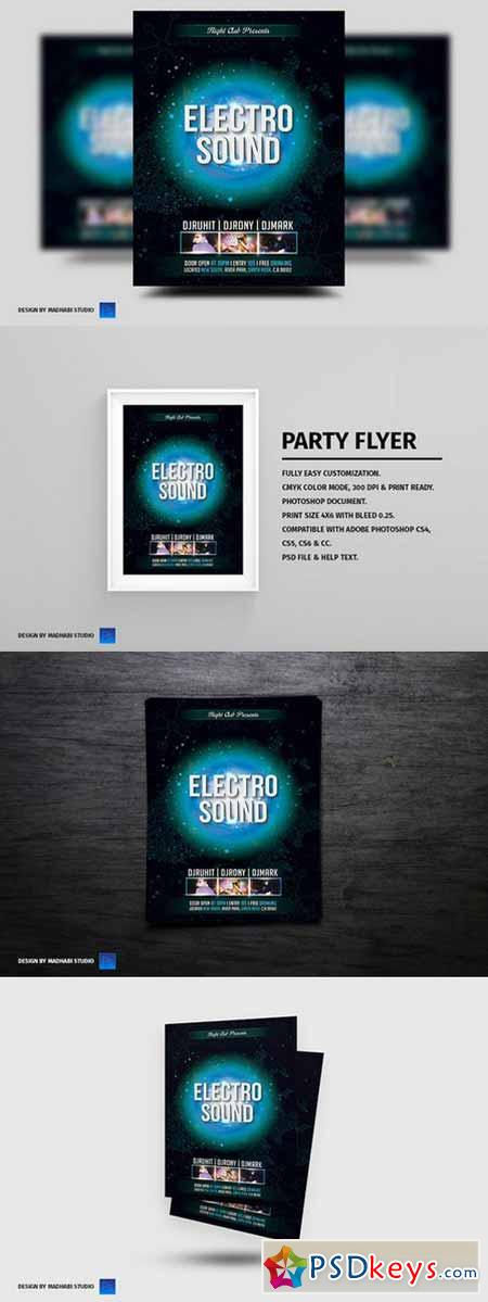 Electro Sound Party Flyer 358082
