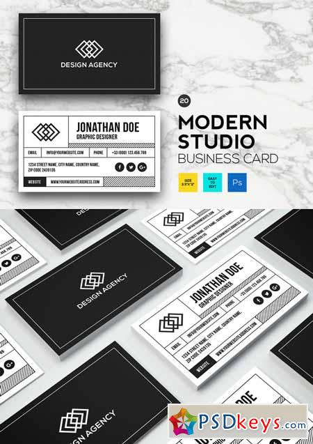 Modern Studio Business card #20 587890