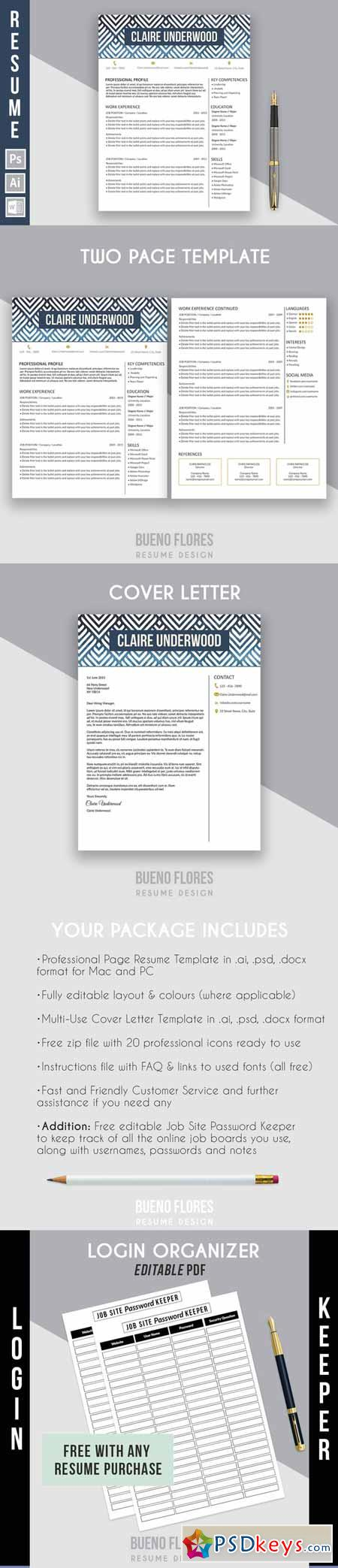 resume template claire underwood b 582476  u00bb free download