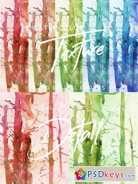 hand-painted watercolor textures 587793