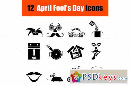 Set of April Fool's day icons 587888