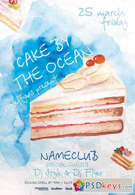 Cake By The Ocean Psd Flyer Template Facebook Cover
