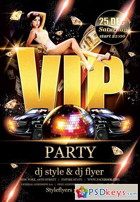 Vip Party Psd Flyer Template + Facebook Cover » Free Download