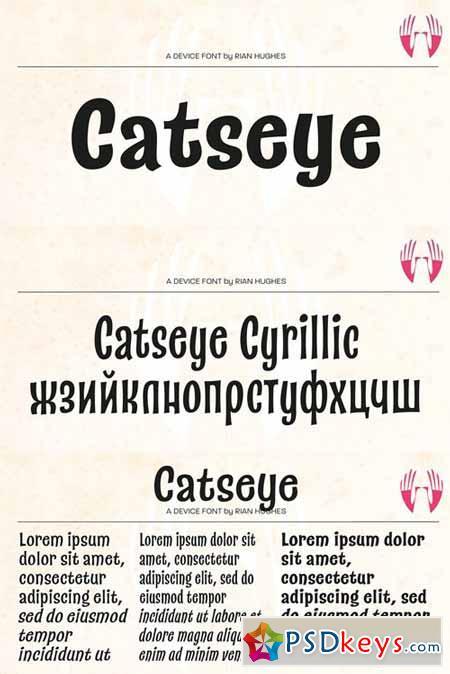 Catseye Font Family $126