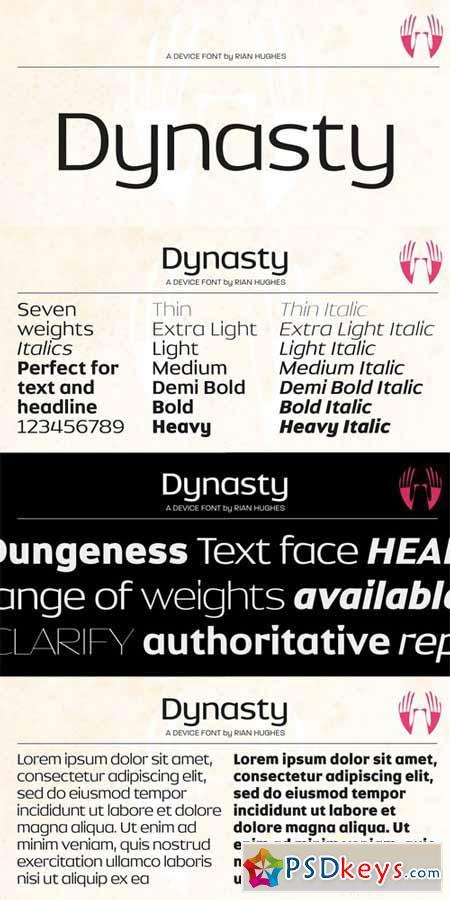 Dynasty Font Family $416