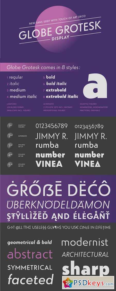Globe Grotesk Display Font Family $265