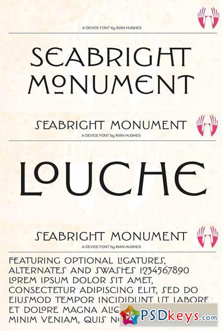 Seabright Monument Font $59