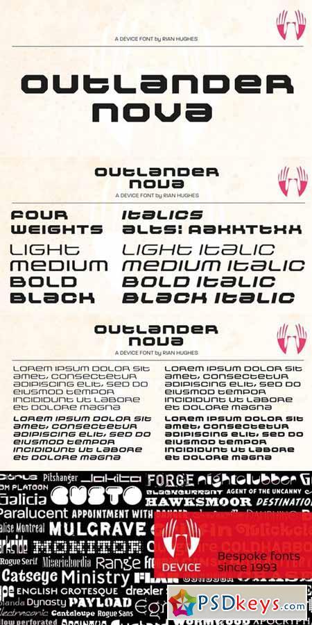 Outlander Nova Font Family $199