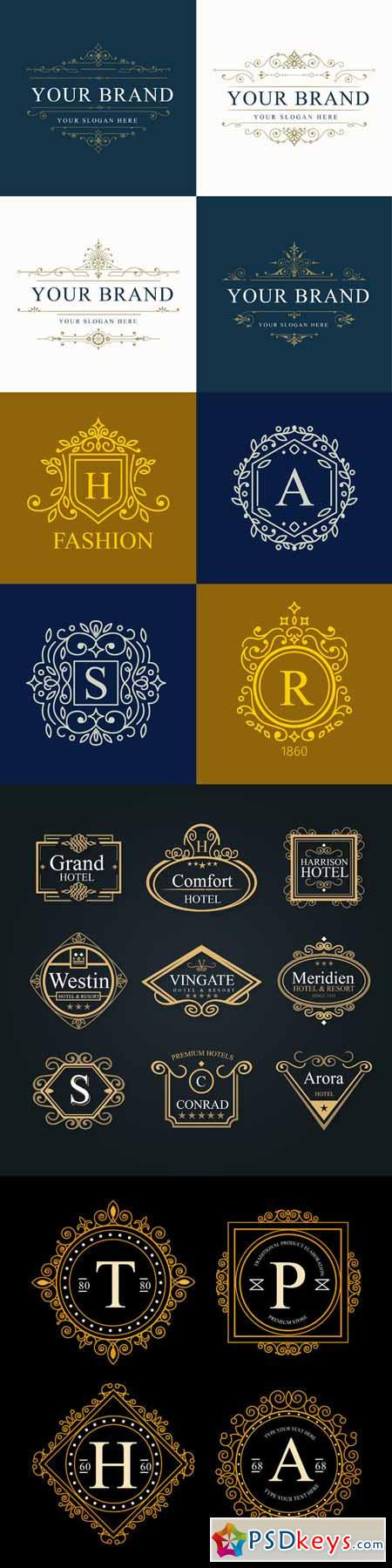 Set Luxury Logos 583152