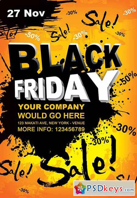 Black Friday Flyer PSD Template + Facebook Cover