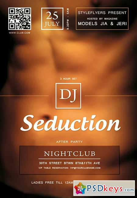 Seduction PSD Flyer Template + Facebook Cover