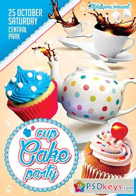 Cup Cake Party Psd Flyer Template Facebook Cover