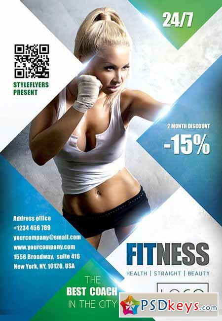 FITness PSD Flyer Template + Facebook Cover