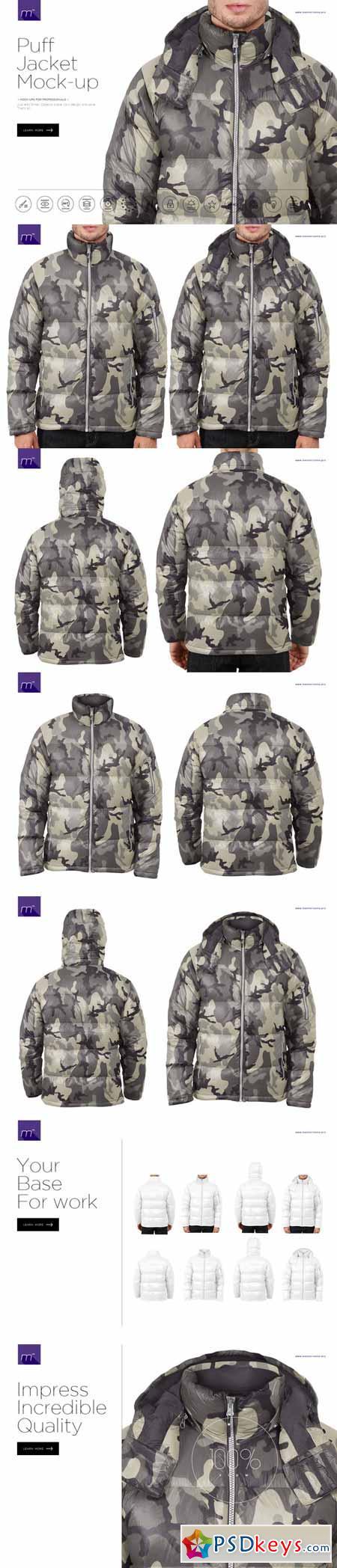 Puff Jacket Mock-up 585918