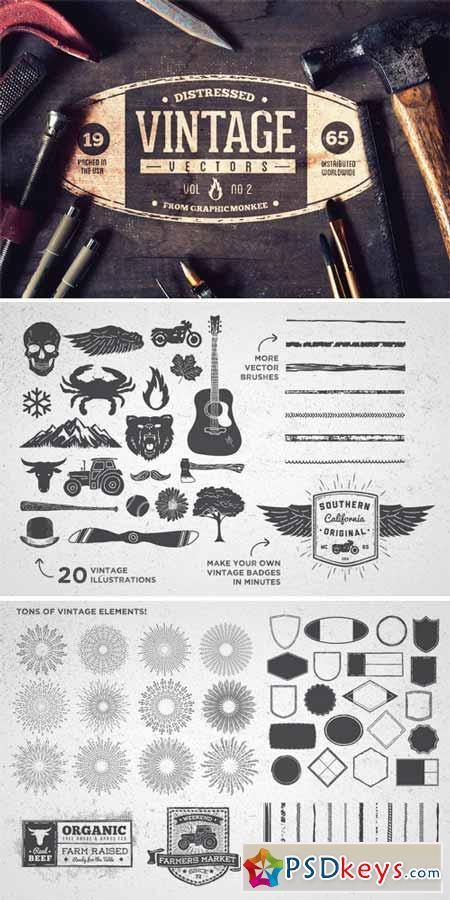 Distressed Vintage Badge Kit Vol 2 303018