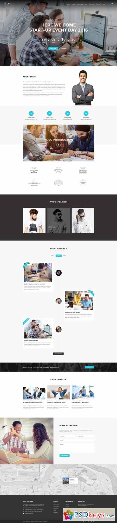 Two - Multipurpose PSD Template 586405