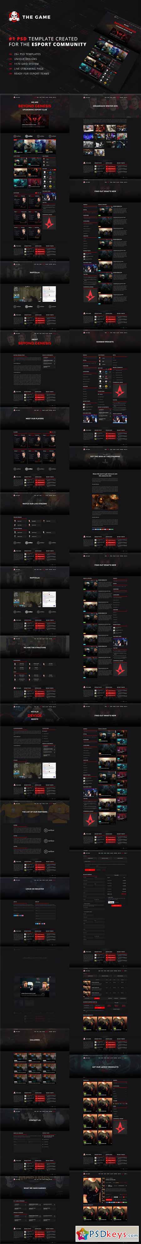 The Game - eSport PSD Gaming Templat 576257