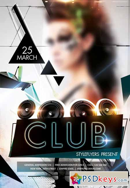 Club Flyer PSD Template + Facebook Cover