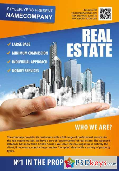 Real Estate PSD Flyer Template + Facebook Cover