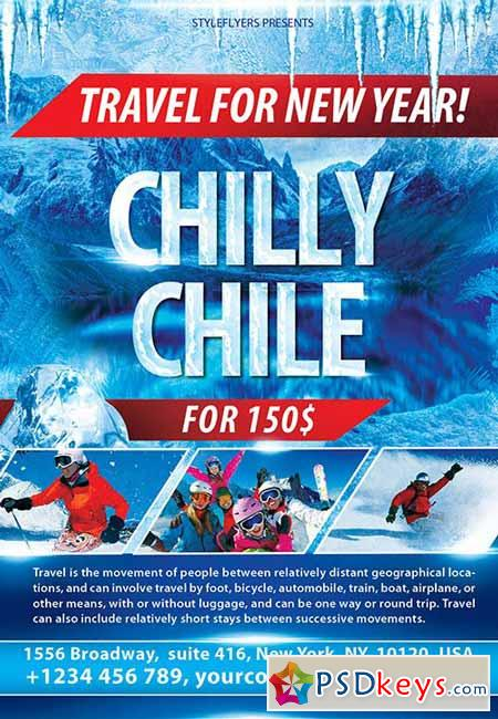 Chilly Chile PSD Flyer Template + Facebook Cover