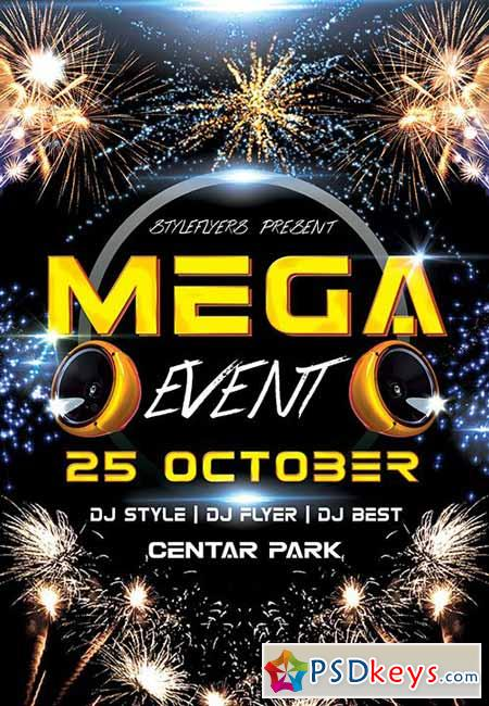 Mega Event PSD Flyer Template + Facebook Cover