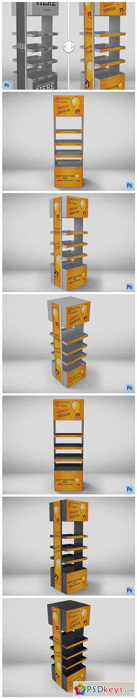 Promotional Store Shelf Stand Mockup 565819