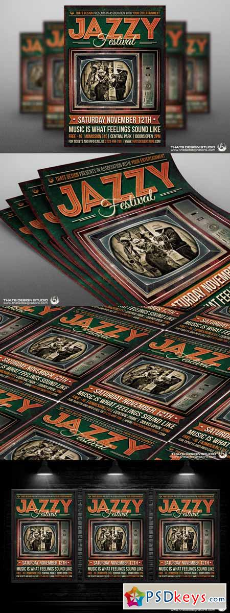 Jazz Festival Flyer Template V6 591758