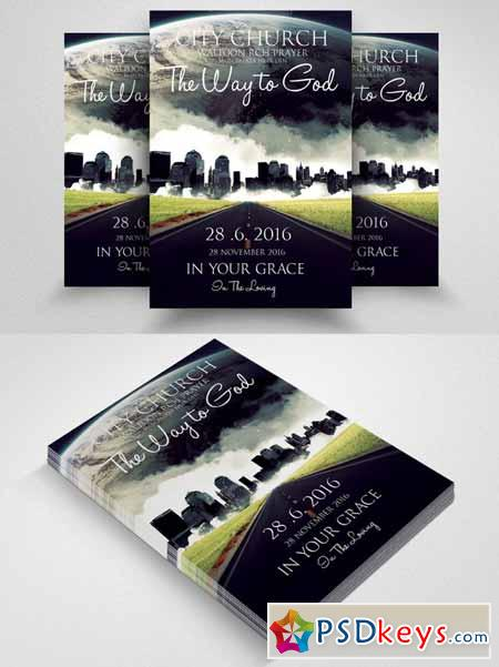 Jesus City Church Flyer Template 581063