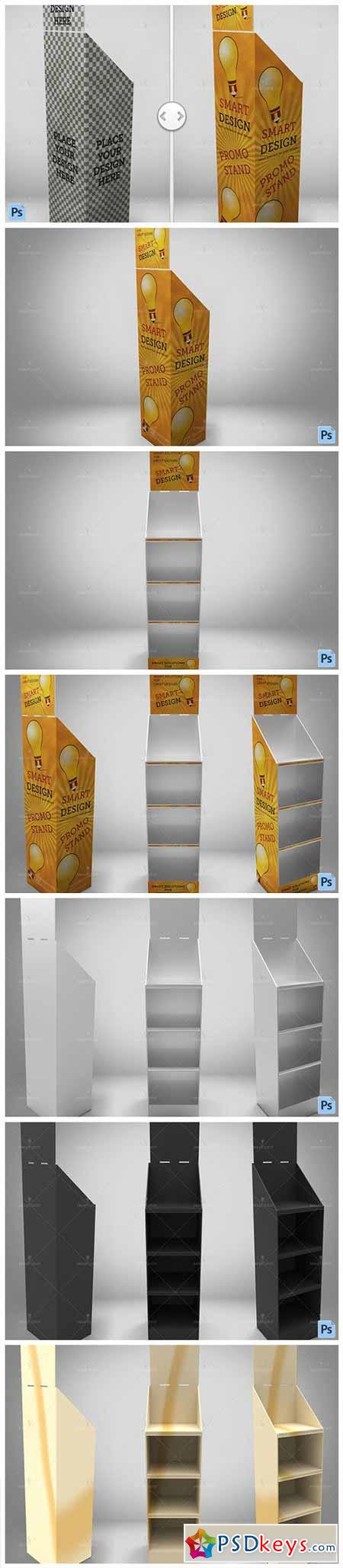 Promotional Store Shelf Stand Mockup 558652