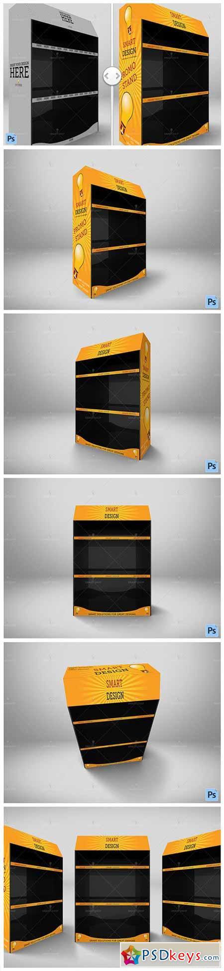 Promotional Shelf Display Mockup 565915