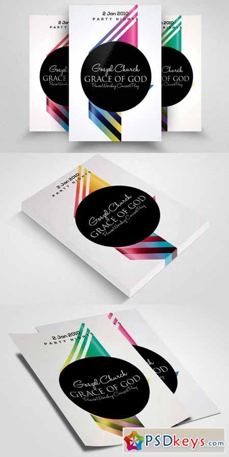 Futuristic Flyer Poster Template 590683