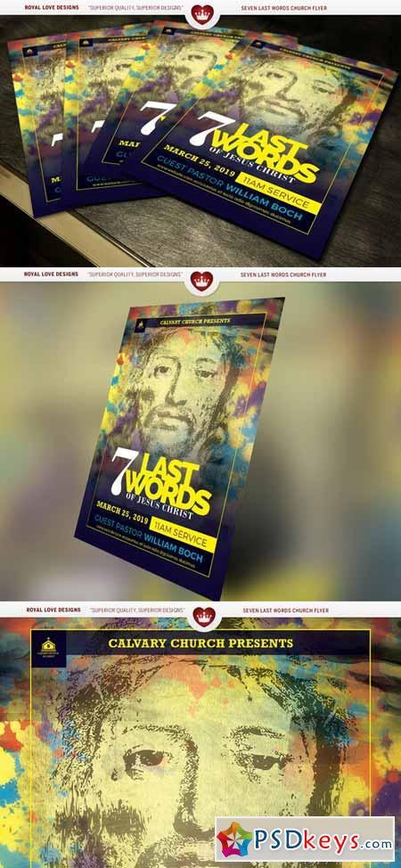 Seven Last Words Church Flyer 585798