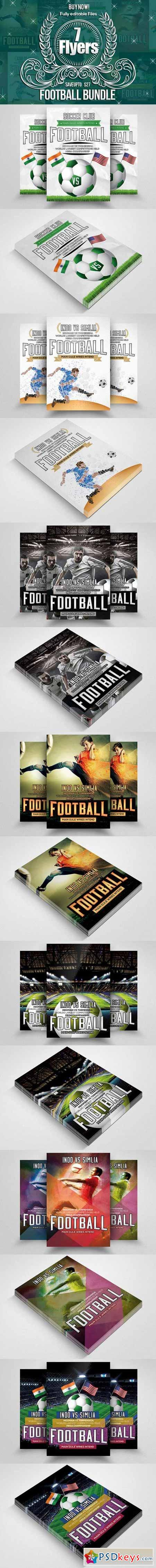 7 Soccer FootBall Match Flyer Bundle 571019