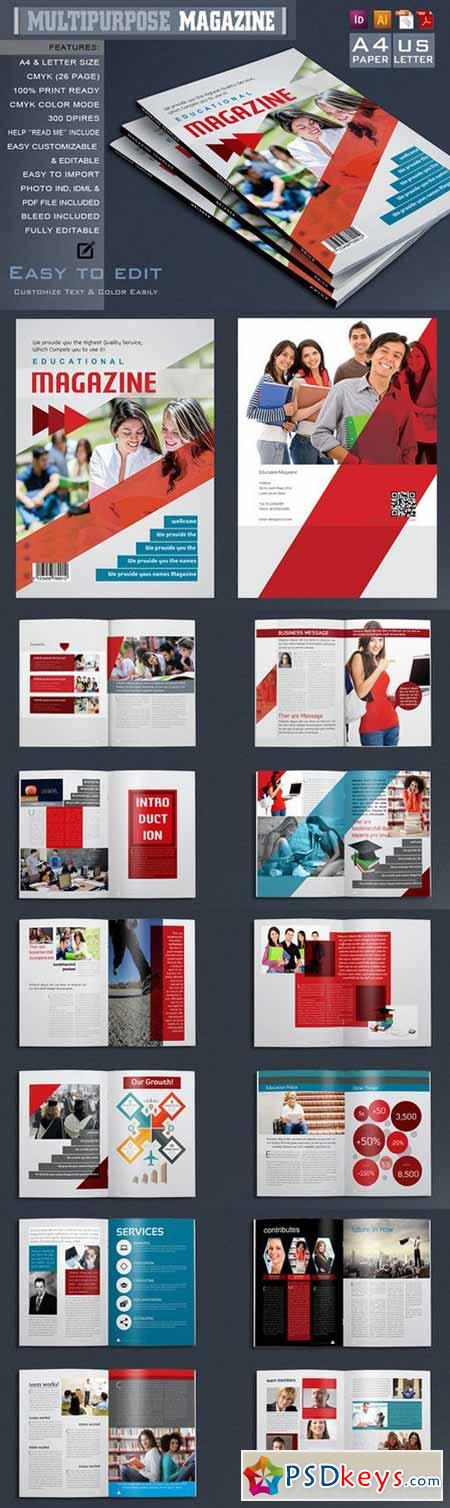 Multi-purpose Magazine Template 606264