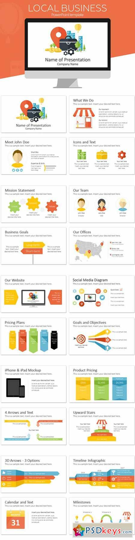 Business PowerPoint Template 611135