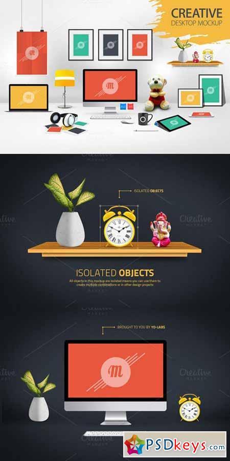 Creative Desktop Mockup 595873