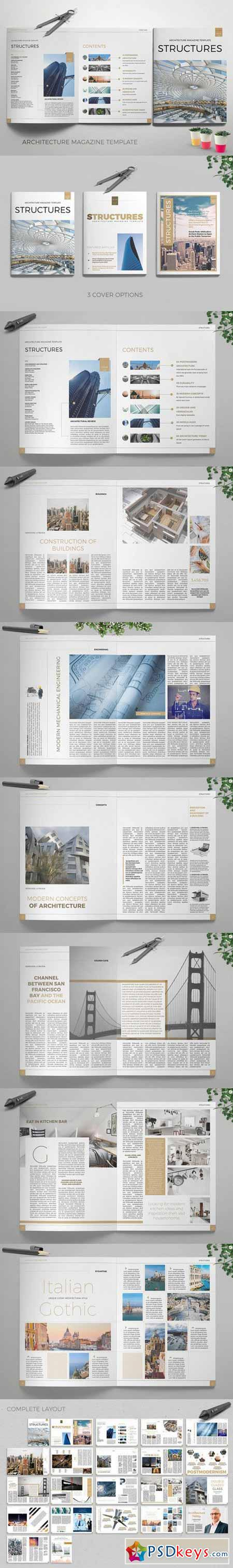 Structures Magazine InDesign template 592678