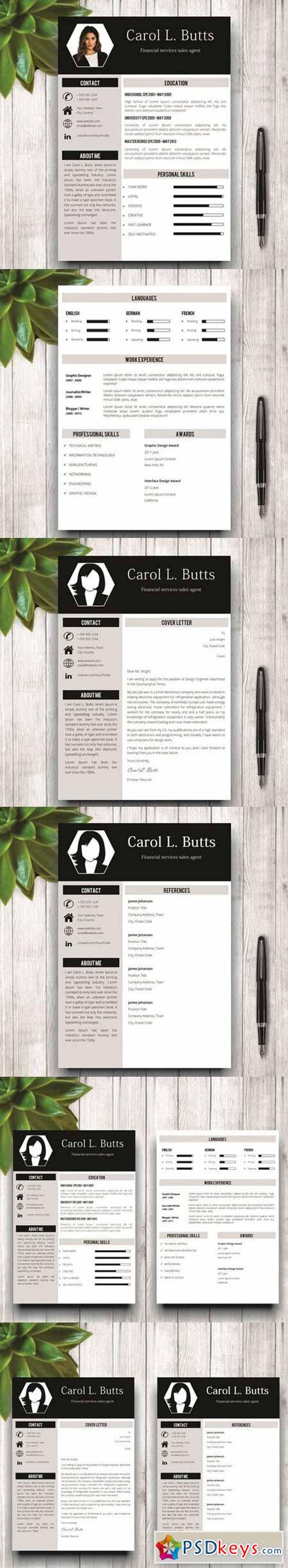 Clean Resume Template With Photo 589929