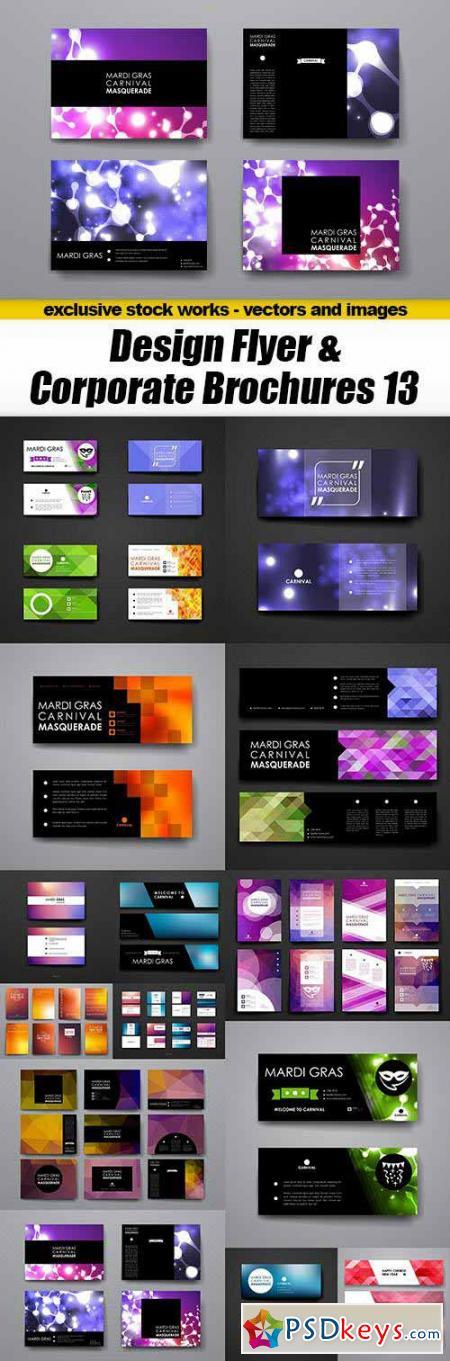 Design Flyer & Corporate Brochures 13 - 15xEPS