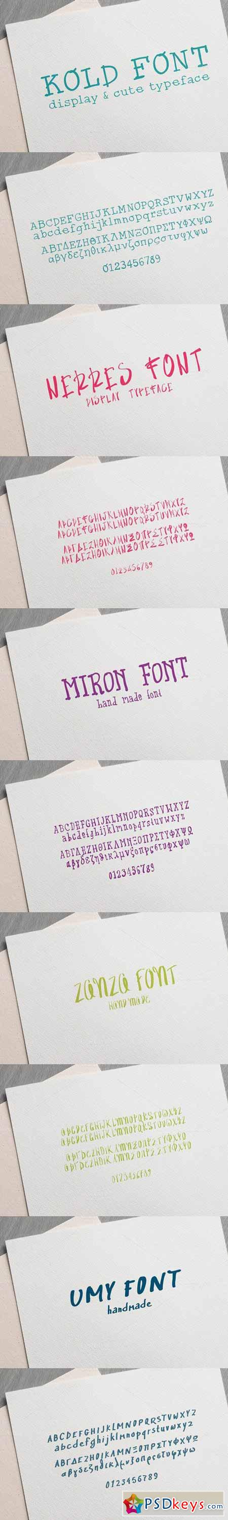 5 Handmade Fonts Surprise Pack 586870