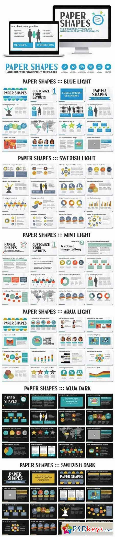Paper Shapes Powerpoint Presentation 589811 » Free Download