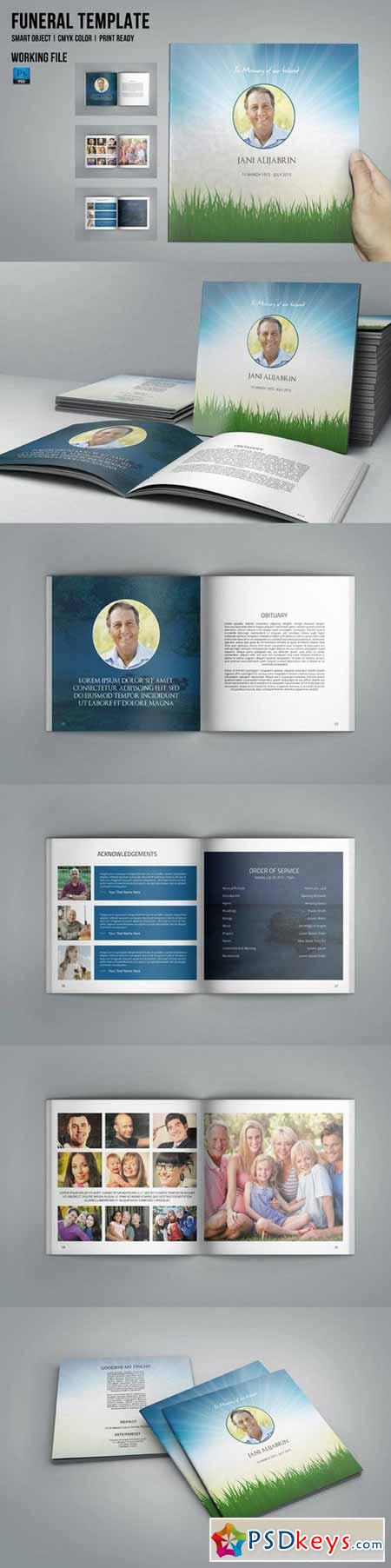 Funeral Program Template-8 Page-V435 579597